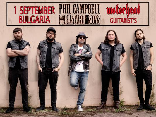 Phil Campbell And The Bastard Sons live in Sofia