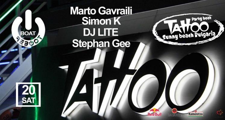 Reboot Boat pres. Marto Gavrailli, Simon K, DJ Lite & Stephan Gee
