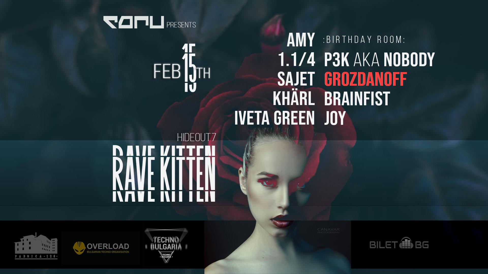 Each pres. Rave Kitten + Grozdanoff B-Day Bash